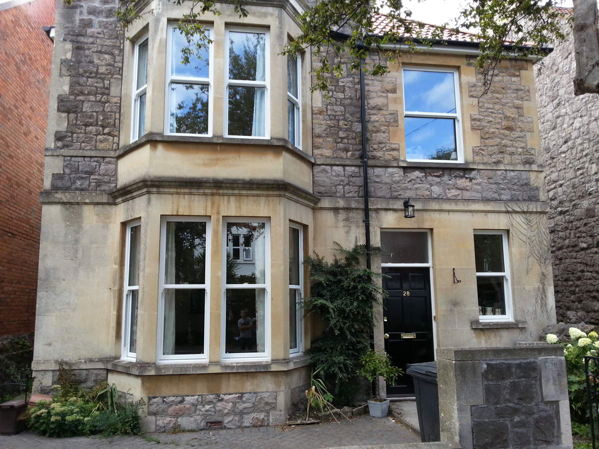 Victorian house with New PVC Sash Windows